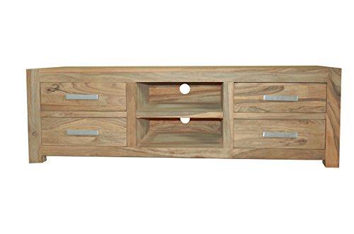 Quadrato - Lowboard / TV Board INDO, Holz Sheesham natur, Maße: B 160 x H 50 x T 50 cm