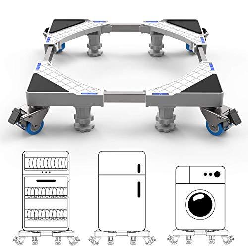 Rziioo Multifunktionale Ajustable Standfuß Bodenwannen für Waschmaschine, Trockner und Kühlschrank, mit 4 Starke Füße Stent Durable Heavy Load 300kg,C