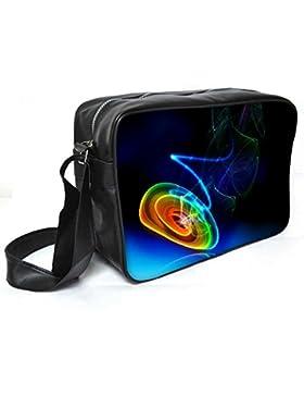 Snoogg Multicolor Disc Leder Unisex Messenger Bag für College Schule täglichen Gebrauch Tasche Material PU
