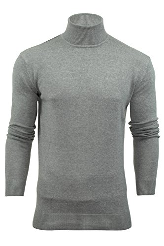Xact Mens Roll-Neck Jumper by Long Sleeved Polo Neck