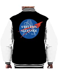 Cloud City 7 Mass Effect Normandy Systems Alliance Nasa Logo Men s Varsity  Jacket 982c74895e84