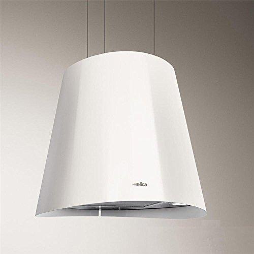 Elica Juno - Cappa da cucina sospesa in acciaio inox, Ø 50 cm, bianco