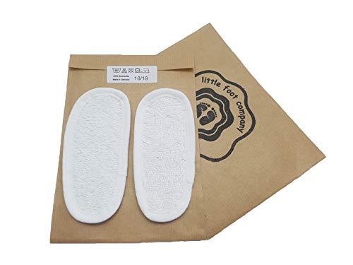 little foot company® Einlegesohlen aus Frottee, 100% Baumwolle, 16-17