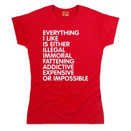 Everything T-Shirt, Damen Rot