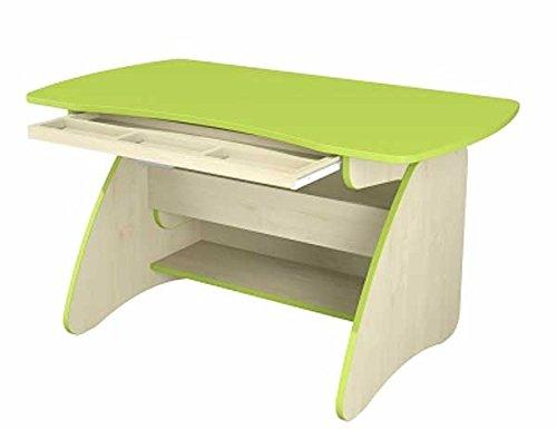 Jugendzimmer Mitwachsender Schreibtisch 65114 höhenverstellbar birke / lime grün