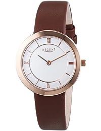 Regent Damen-Armbanduhr XS Analog Quarz Leder 12100594