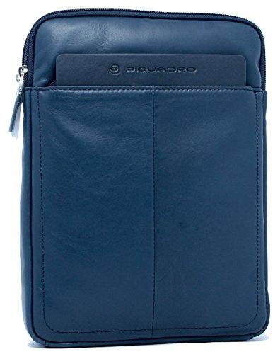 Borsello Organizzato con Scomparto Porta iPad®Air/Pro 9,7 Blu CA3978S88 IGUAZU' Piquadro
