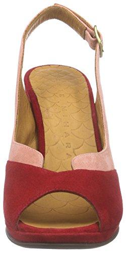 Chie Mihara Franca, Sandales Bride arrière femme Rouge - Rot (ante rojo-ante powder)