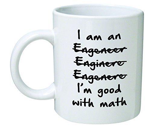 r im Good with Math-Lustige Neuheiten Tee Kaffee Keramik Weiß Tasse 325,3 ml, 6 x 6 x 6 cm ()
