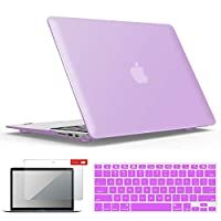 جراب IBENZER MacBook Air 13 بوصة A1466 A1369، جراب صلب مع لوحة مفاتيح وغطاء شاشة لهاتف Apple Mac Air 13 Old Edition 2017 2015 2014 2013 2012 2011 2010، أرجواني، A13PU+2A