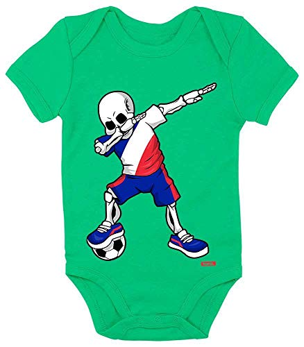 Kostüm Land Frankreich - HARIZ Baby Body Kurzarm Fussball Dab Skelett Frankreich Land Trikot Plus Geschenkarte Frosch Quietsch Grün 12-18 Monate
