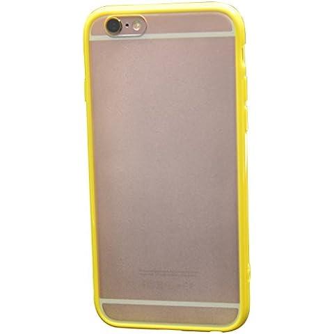 ICHOW Ultra delgado caja del teléfono de plástico duro de la cubierta deslizante a prueba superficie helada Reverso Marco coloreado Protector de pantalla para Apple iPhone 6 6S