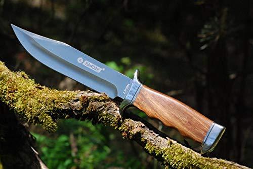 KOSxBO® klassisches & Zeitloses ca. 32 cm Jagdmesser - Jäger Messer - Outdoor - Freizeit - Messer - Hunting Knife - Messer mit Scheide