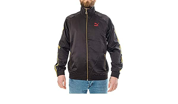f4a22278db Puma Felpa Uomo Luxe Pack Track Jacket 578774.01 Black: Amazon.co.uk ...