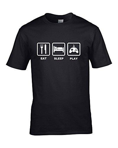 FatCuckoo EAT Sleep Play- Console Arcade Gamer, Gamepad- Youth Boy's T-Shirt