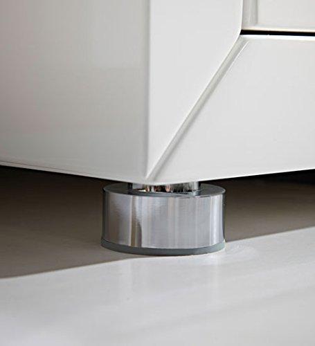 Kommode in Hochglanz weiß lackiert, 3 Schubladen mit Selbsteinzug und 1 Schranktür, Maße: B/H/T ca. 106/90/40 cm - 3