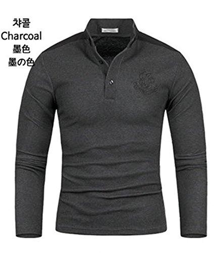 Chiclook24 Herren Poloshirt weiß weiß S Anthrazit