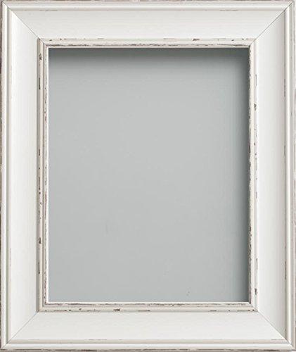 -Serie Bilderrahmen, diverse Größen, Weiß, Antik-Weiß, 7x5 ()