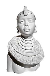 Buste Masaï Mala en plâtre - Powertex