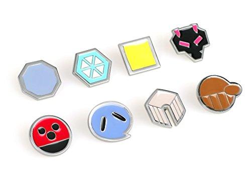 Pokemon 8 Metall Anstecker der Johto ()