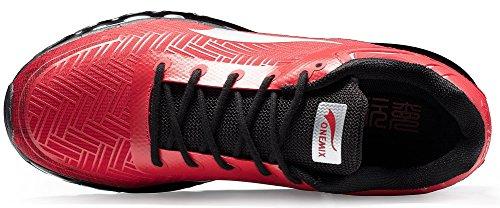 ONEMIX Scarpe da Corsa Basse Uomo Ginnastica Sportive Running Rosso/Nero