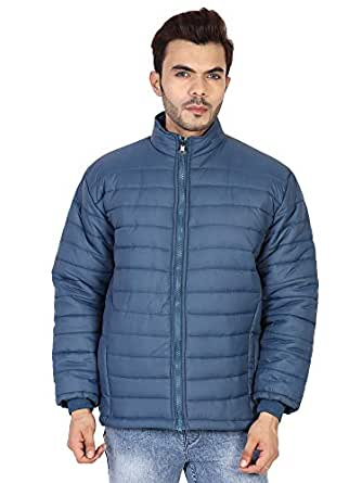 Ico Blue Stor Men's Polyester Jacket(0_Black_0) (40, Blue)
