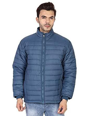 Ico Blue Stor Men's Polyester Jacket(0_Black_0) (40, Blue)
