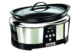 Crock Pot SCCPBPP605-050 Mijoteuse électrique programmable 5,7 L Inox