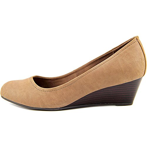 Giani Bernini Jileen Large Synthétique Talons Compensés Dark Taupe
