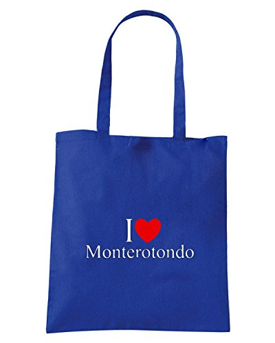 T-Shirtshock - Borsa Shopping TLOVE0130 i love heart monterotondo Blu Royal