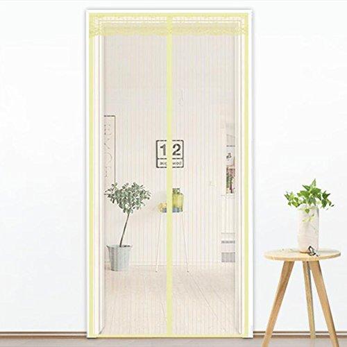 ... Fliegengitter Tür Mesh Vorhang Full Frame Velcro Schließt Automatisch  Für Balkon Schiebetüren Terrasse Wohnzimmer Kinderzimmer Beige 80 X 190cm