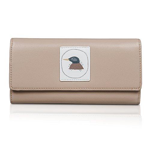 Fency ,  Damen Damen-Geldbörse khaki khaki Lang (Top Satchel Print Zip)