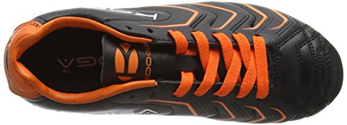 Kooga Warrior 2 Junior, Chaussures de Rugby Garçon Noir - Black (Black/Orange)
