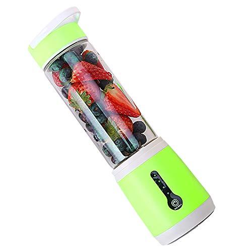 Aobiny Batidora portátil, USB Recargable Personal, para una Sola batidora pequeña para Batidos más Fuertes, Frutas, Batidos, batidor, batidora de bebé, batidora de Mezcla, Botella de Zumo, Verde