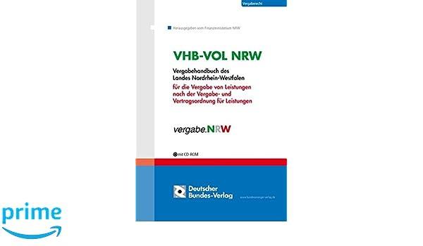 Vhb Vol Nrw Vergabehandbuch Amazonde Finanzministerium Nrw