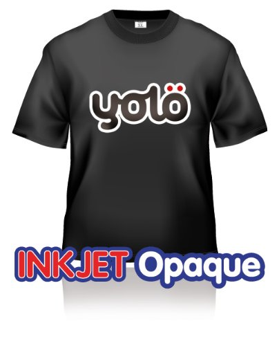 Buy 25 x a4 sheets of yol inkjet opaque iron on heat for Heat press decals for t shirts