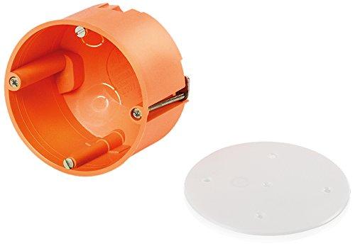 f-tronic Hohlwand-Abzweigdose, Durchmesser = 74 mm, inklusiv Deckel, Inhalt: 10, orange, E119