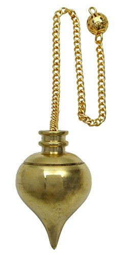 Harmonize Curación de cristal de bronce dorado Tear Drop Péndulo Rad