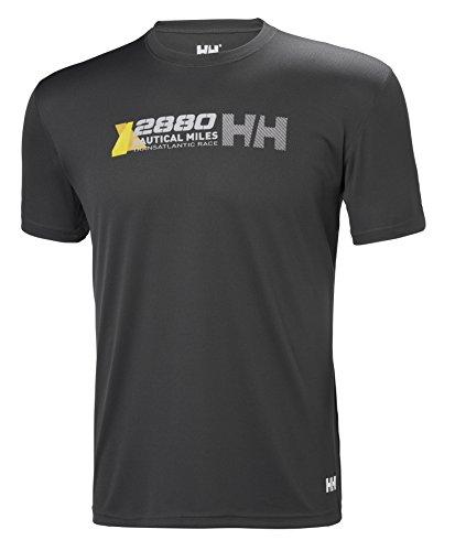 Helly Hansen HP Clean Ocean T Camiseta, Hombre (Gris 980), Large (Tamaño del Fabricante:L)