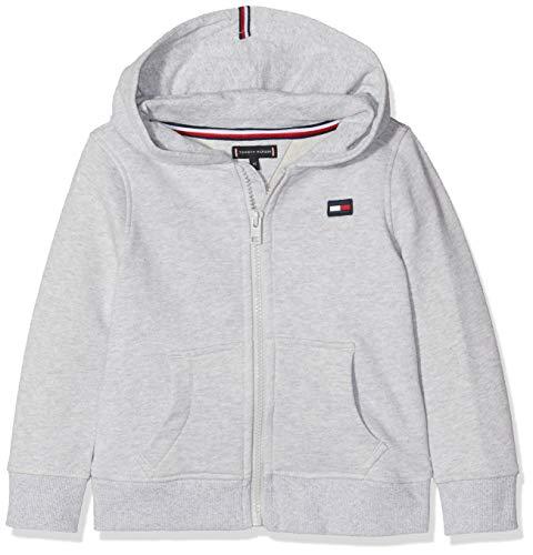 Tommy Hilfiger Baby-Jungen Hilfiger Logo Zip Hoodie Kapuzenpullover, Grau (Grey Heather 004), Herstellergröße: 92 Baby Zip Hoodie