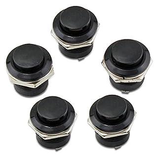PsmGoods 5 Momentary Ein / Aus-Taster Horn Schalter für Auto Auto (Black)