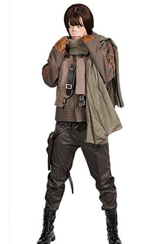 Cosplay Kostüm Damen Outfit Verrücktes Kleid Top Vest Jacke Mantel mit Gürtel Handschuhe für Halloween Party Kleidung (Verrückt Jacke Kostüm)
