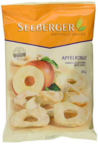 Seeberger Apfelringe, 10er Pack (10 x 80 g Packung)