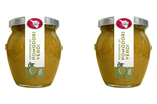 Mostarda di Pomodori Verdi 2x200g Qualità Artigianale Cucina Toscana