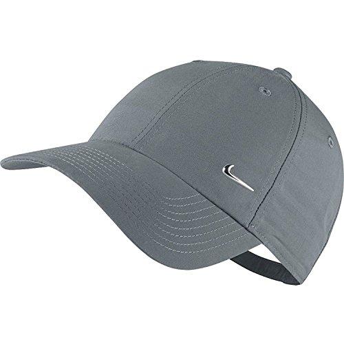 Nike Verstellbare Kappe Metal Swoosh Logo, Cool Grey/Metallic Silver, One Size, 340225-065