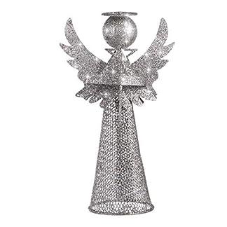 Amosfun ángulo árbol de Navidad Topper ángel de Navidad Copa de árbol decoración del árbol de Navidad o decoración del hogar Fiesta de año Nuevo de Navidad favorece Decoraciones 1pcs