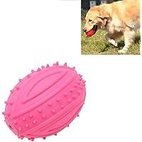 Jdon-pet, Caucho sonido bola forma perro masticar juguetes resistente mordedura para mascotas Molar