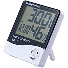 JZK Digital Termómetro higrometro LCD Pantalla medidor Temperatura para Interior Montaje en Pared Termómetro Higrómetro medidor
