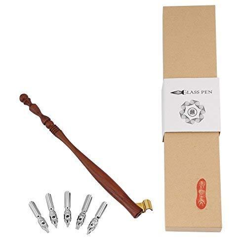 Antik Englisch Kalligraphie Solide Holz Federhalter Griff dauerhafte Feder Halter + 5flach Schreibfedern Schreiben Werkzeug 1mm 1,2mm 1,8mm 2mm 3mm -