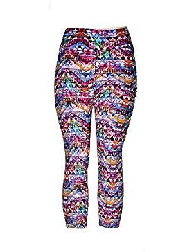 Fliegend Leggings Mujer 3/4 Impresión Pantalones de Yoga Cintura Alta Mallas Push Up Fitness Leggins Elásticas...